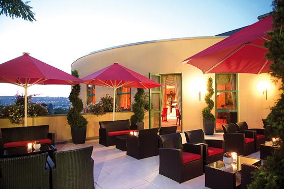 Terrasse unserer Caesar's Bar