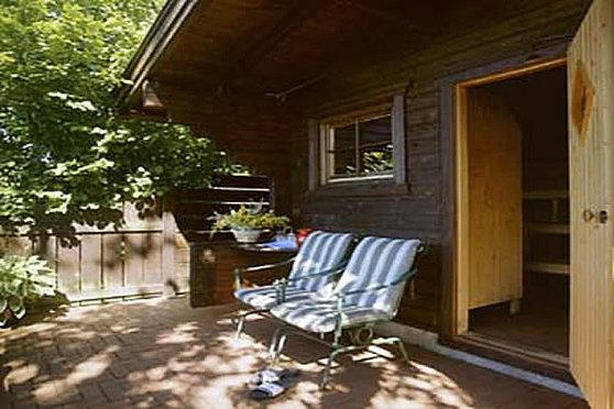 Unsere finnische Chalet Sauna