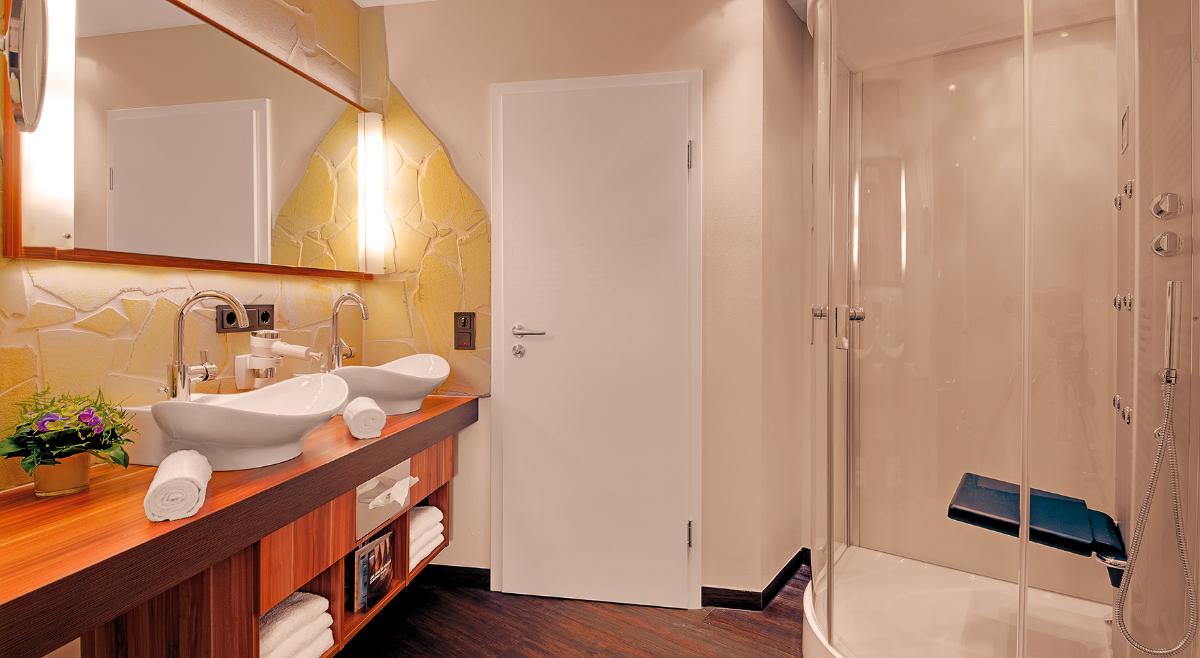 Badezimmer im LifeStyle Doppelzimmer