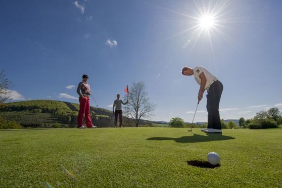 Golf mit Panorama