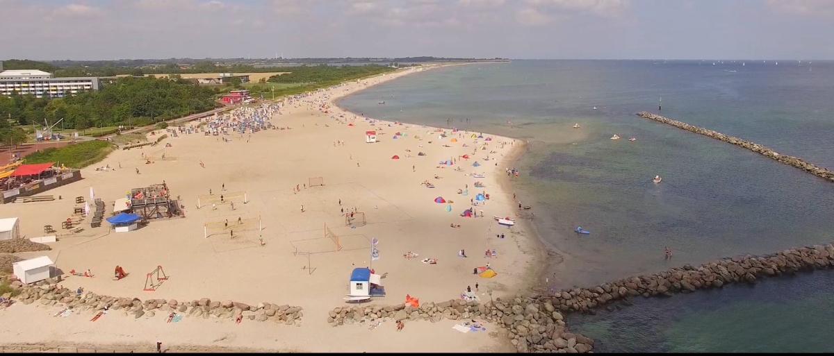 Der Strand aus der Luft