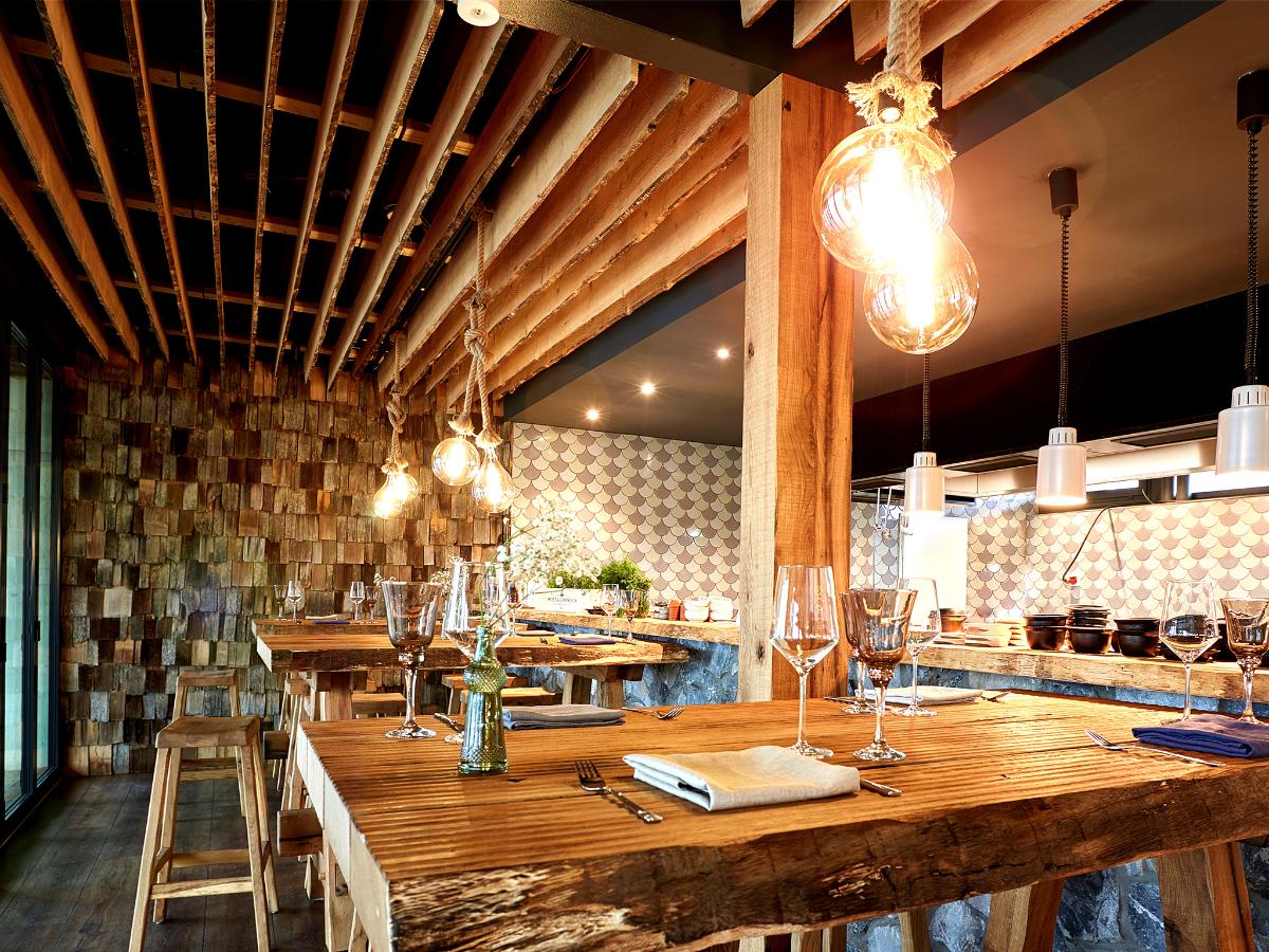 Lädt zum Schlemmen ein - das Restaurant Isfjord