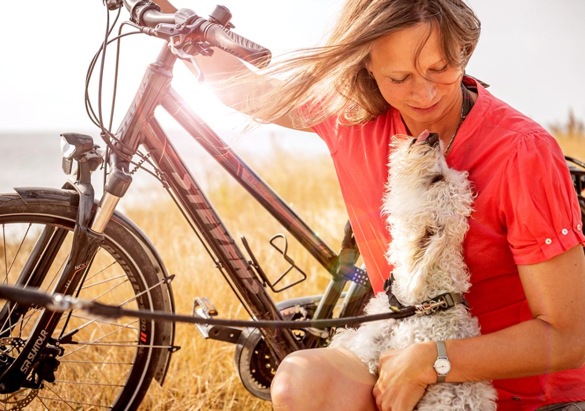 Fahrradtour am Hundestrand