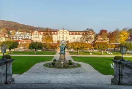 Blick über das Gelände des Dorint Resort & Spa Bad Brückenau