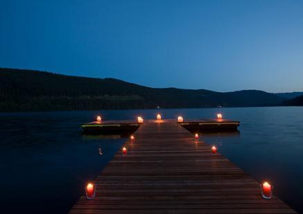 Romantisches Ambiente auch im Trescher´s im Schwarzwald