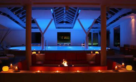 Besondere Stimmung durch Licht im Anima Spa des Hotel & Spa Sommerfeld
