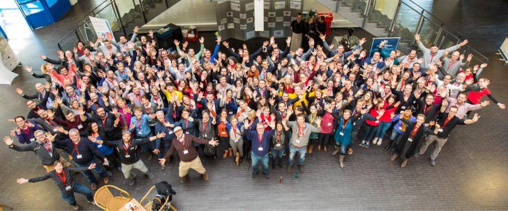 Tourismuscamp 2017 Gruppenfoto - nach der Mittagspause