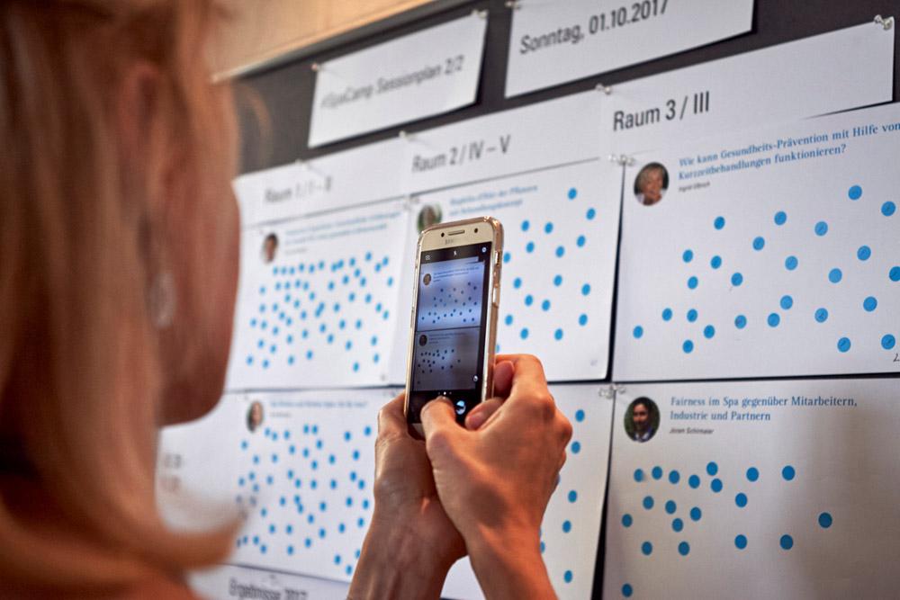 SpaCamp Sessoion-Planung (Bild: Jasmin Walter)