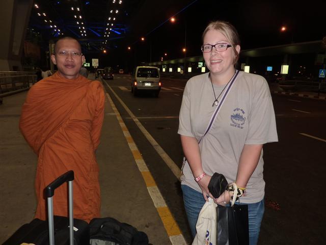 Abschied nach einem Jahr im buddhistischen Tempel