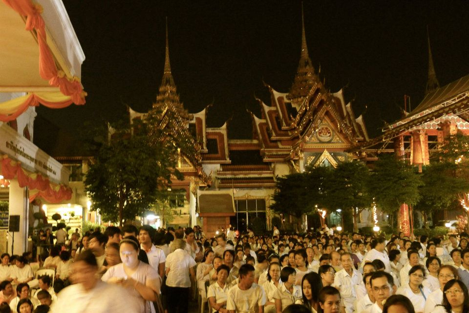 Zeremonie zu Silvester im Tempel