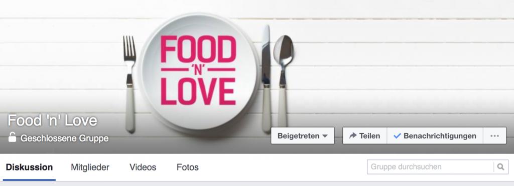 Facebook Gruppe Food 'n