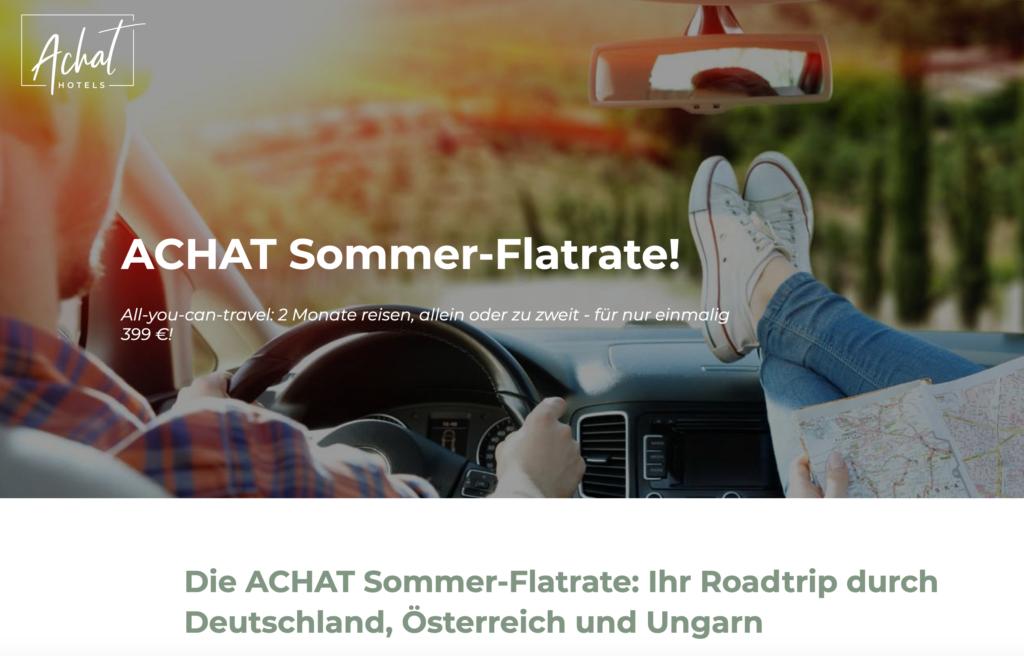 Roadtrip Deutschland mit der ACHAT Hotel Sommerflatrate