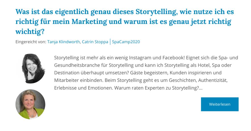 Storytelling SpaCamp 2020