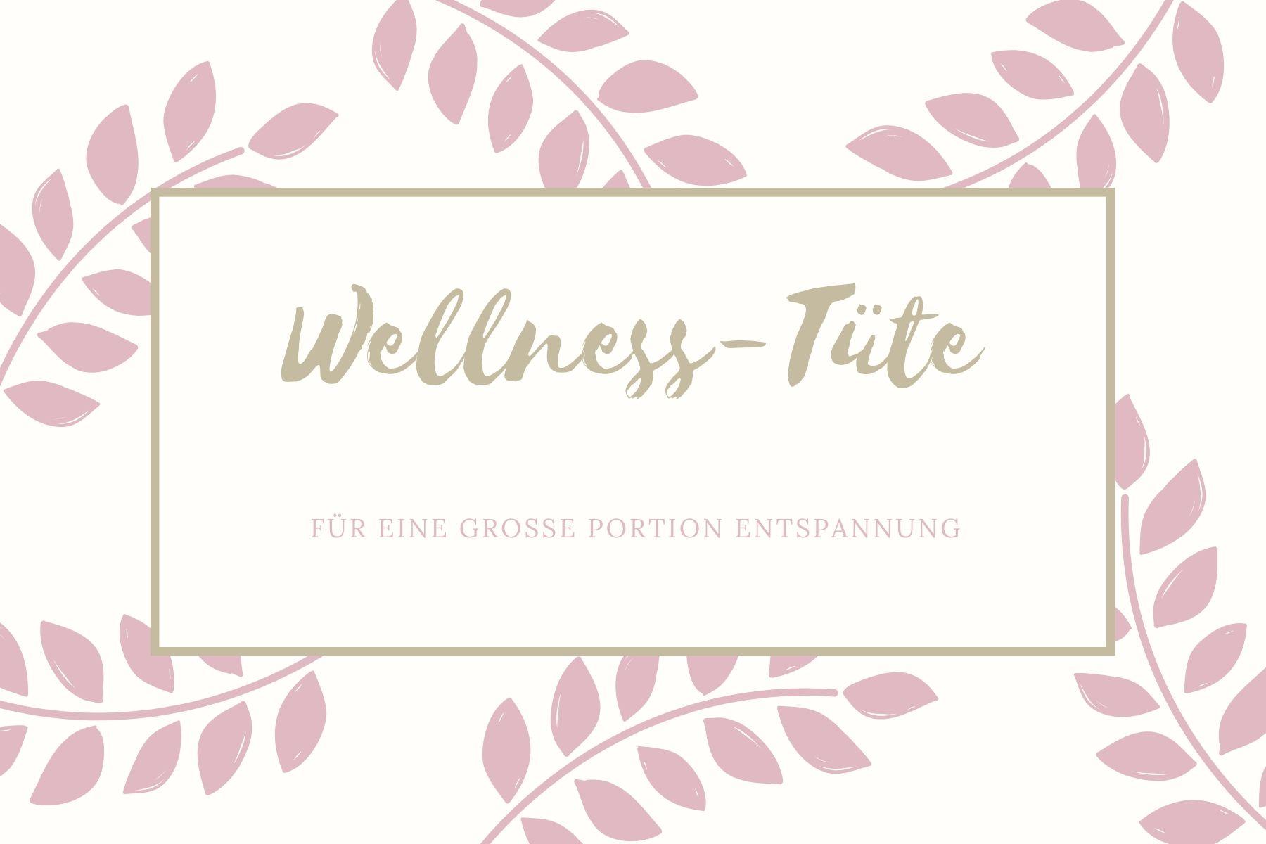 Etikett Wellness-Tuete