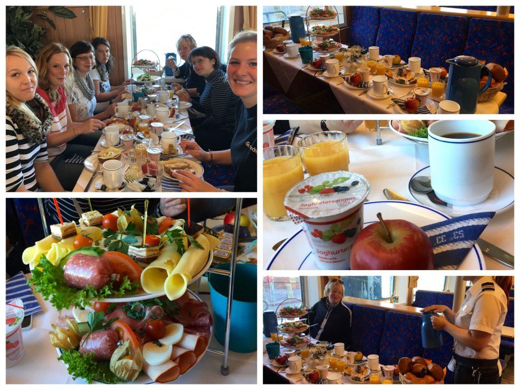 Frühstück auf der Norderney Fähre