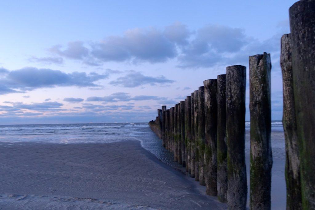Wanderooge Strand im Winter