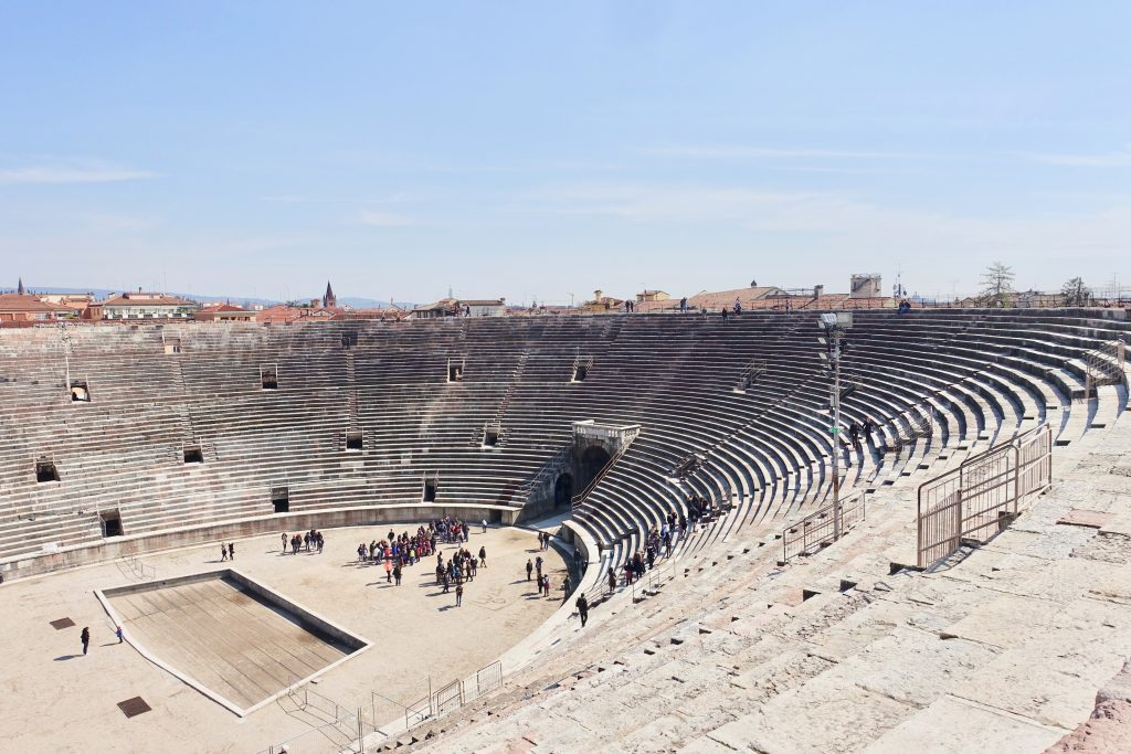 Im Amphitheater Verona