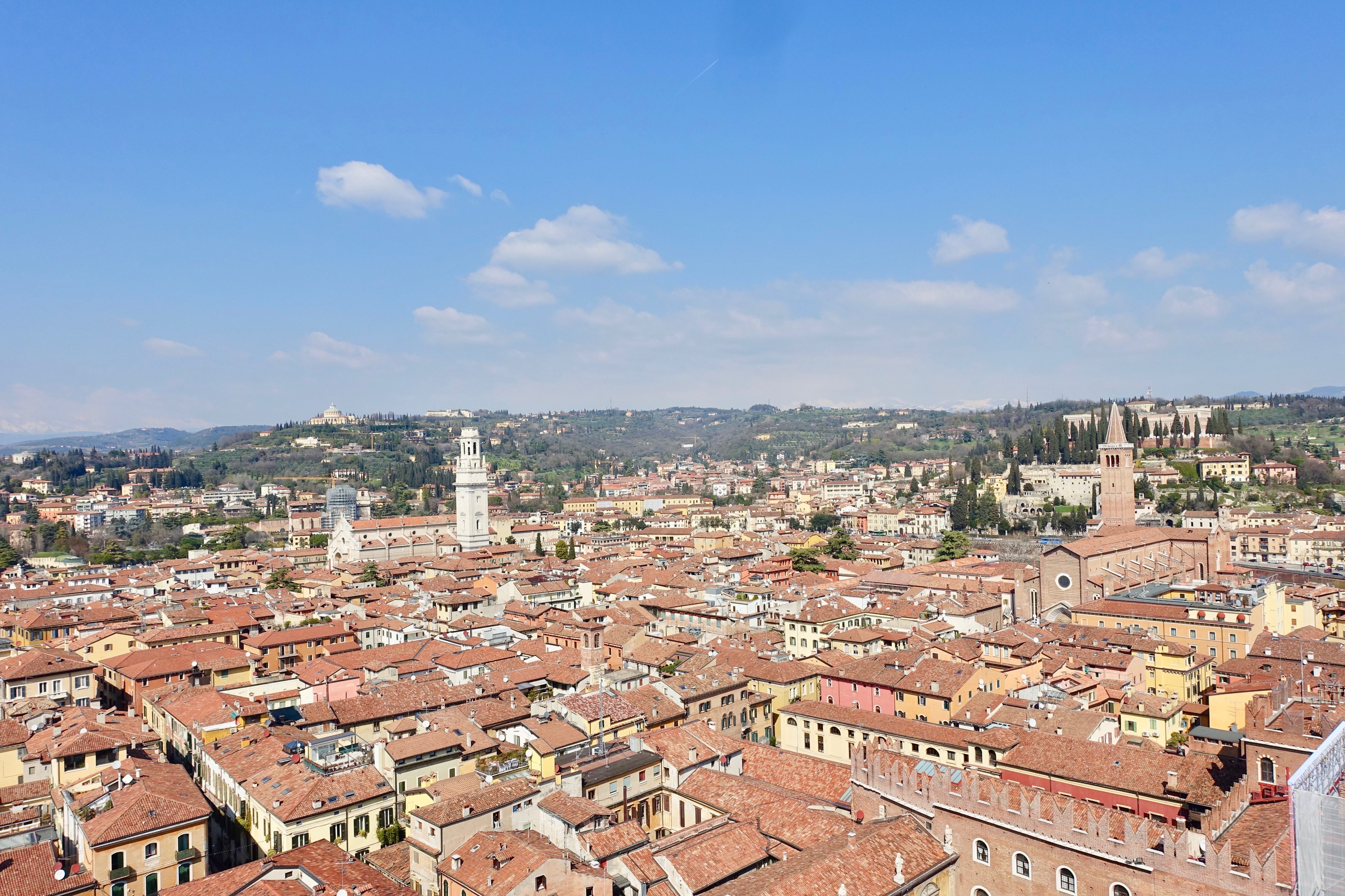 Verona Torre dei Lamberti Ausblick