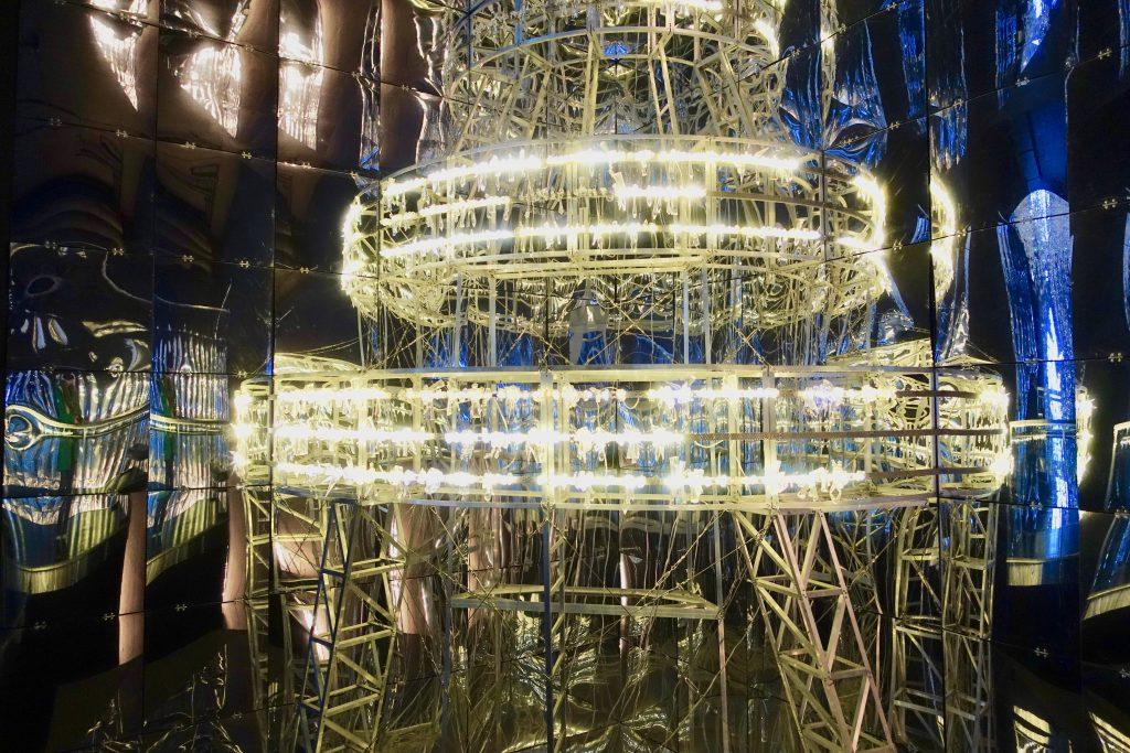Swarovski Wunderkammern into lattice sun