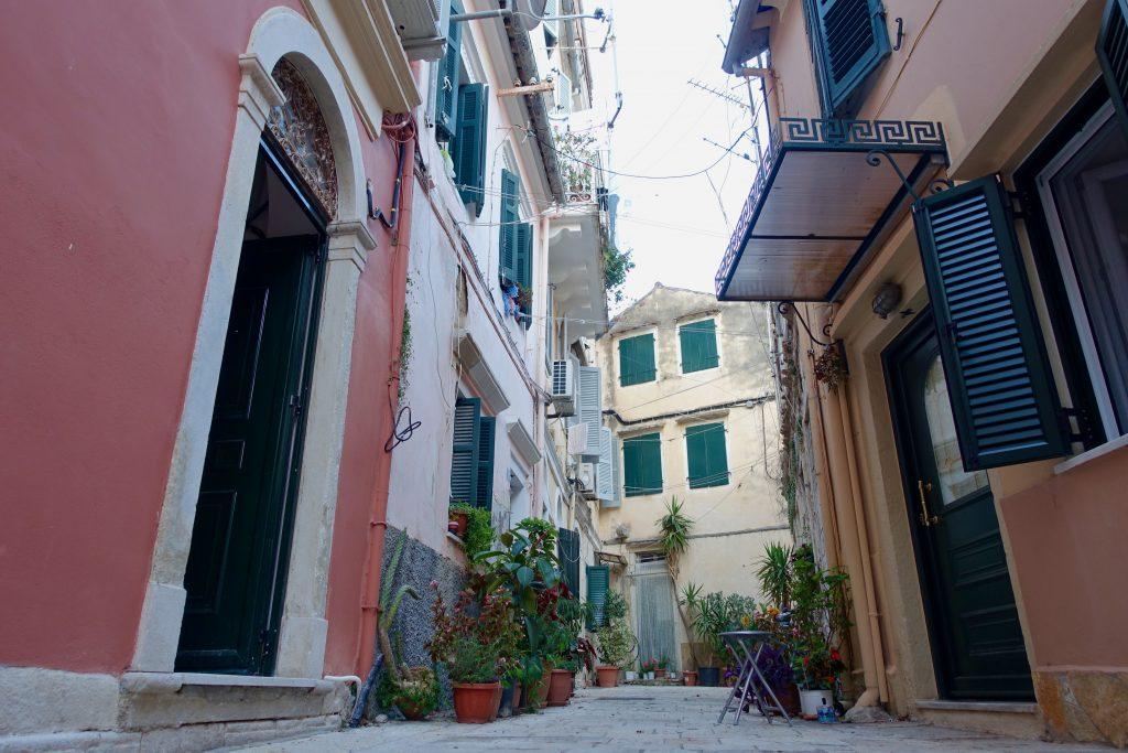 Korfu Bilder in den Gassen der Altstadt