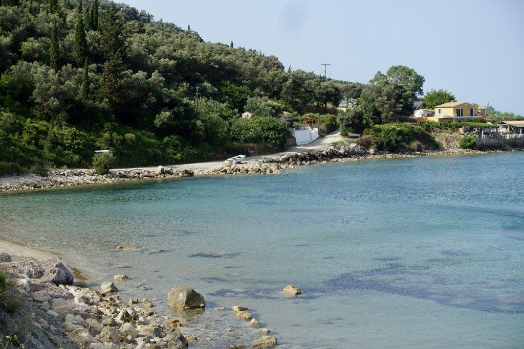 Korfu Trail durch die Corfelios Bucht Agios Georgios
