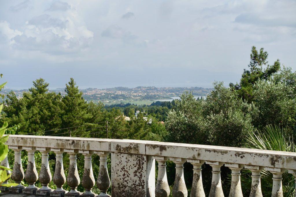 Ausblick auf Korfu aus der Sisi Villa