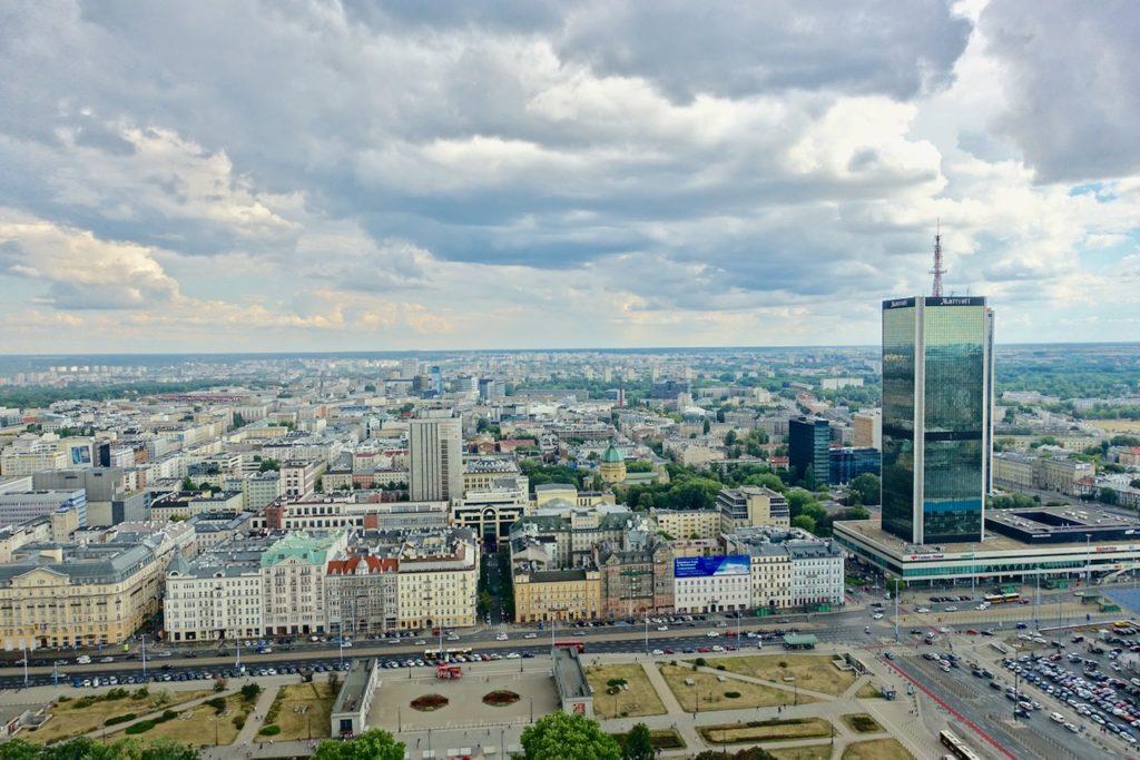 Warschau Tipps: Blick vom Kulturpalast