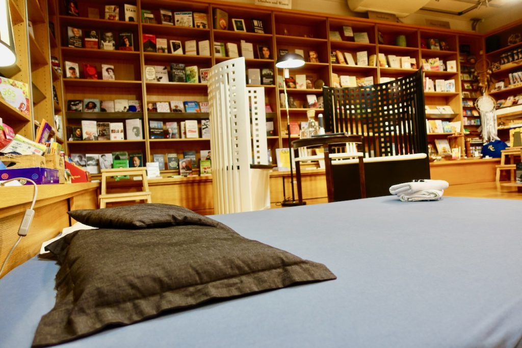 Schlafen in der Buchhandlung