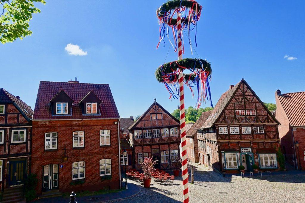 Moelln Altstadt mit Rathaus, Museum und Kirche