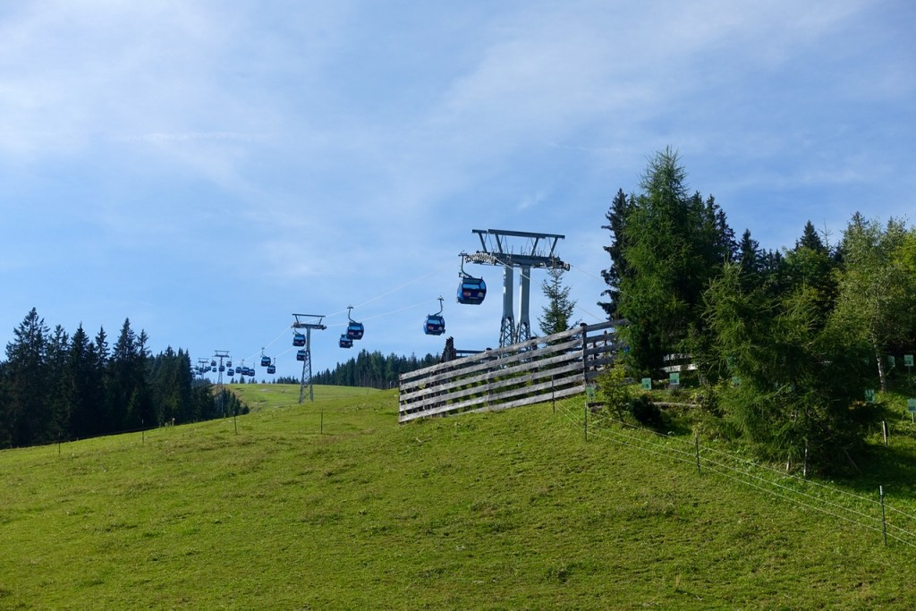 Per Lift zum Flying Fox