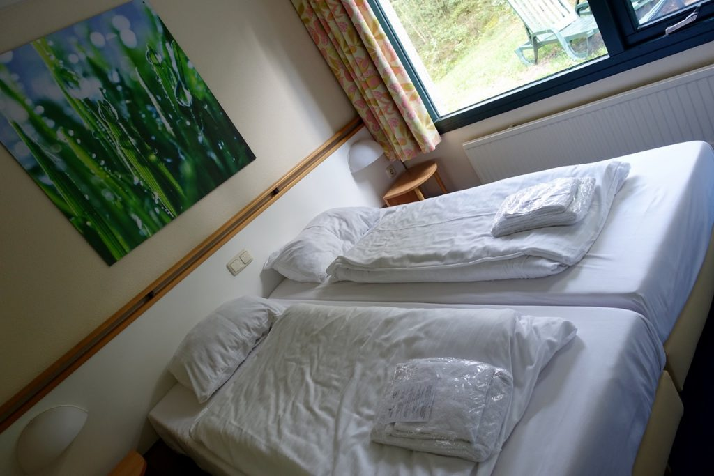 Schlafzimmer Premium Gästehaus Center Parcs Bispinger Heide