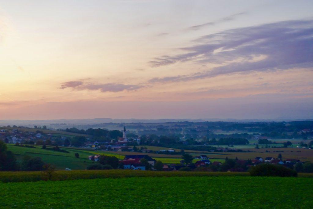 Sonnenaufgang Bayerische Toskana