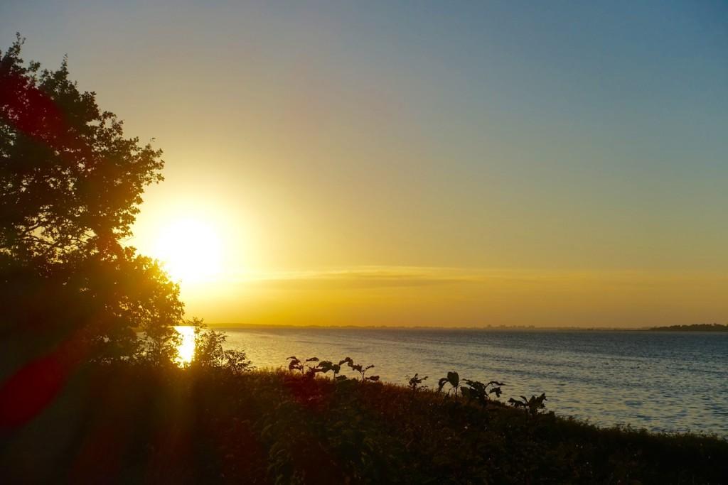 Sonnenuntergang am Bodden - im Lindner Hotel & Spa Rügen