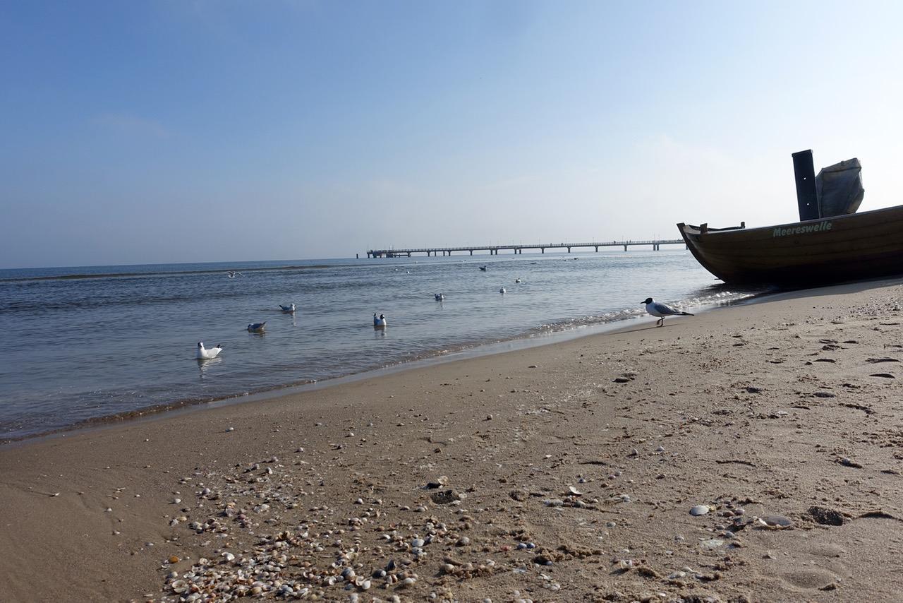 Am Strand auf Usedom