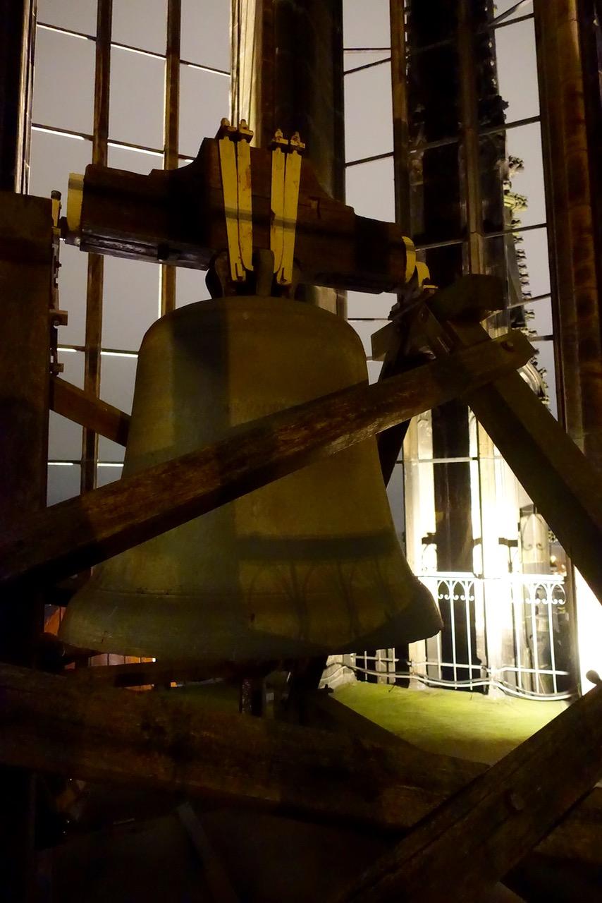 Die Glocke im Turm der Lambertikirche