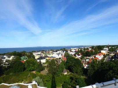 Auf dem Aussichtsturm an der Therme Ahlbeck
