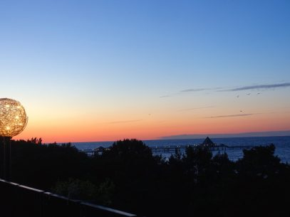 Ausblick Panoramasauna Strandhotel Heringsdorf