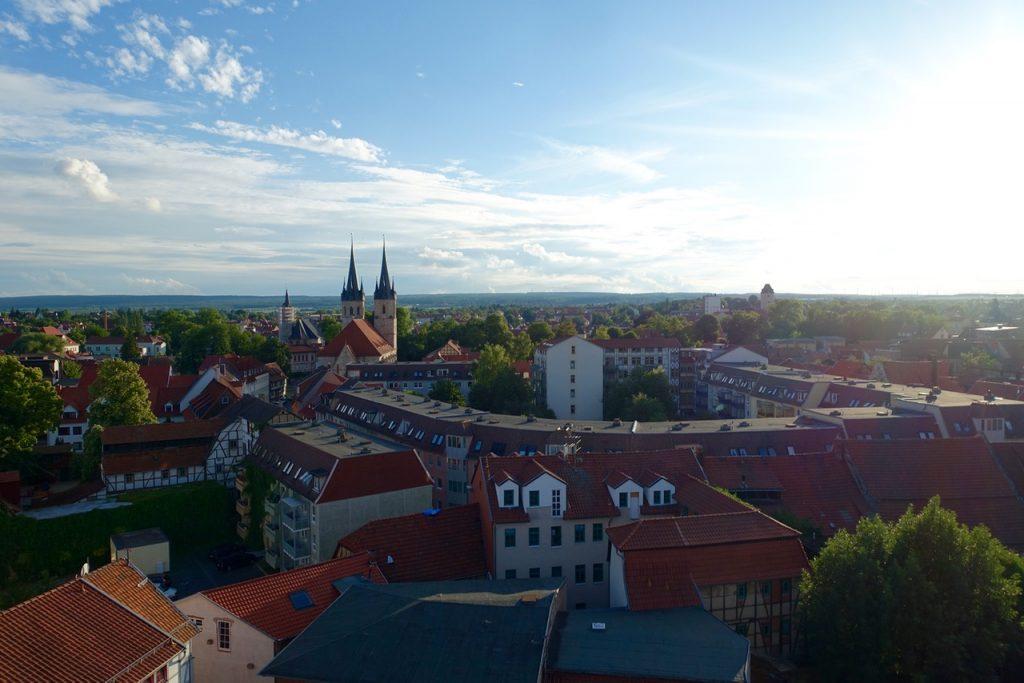 Sonnenuntergang über Mühlhausen