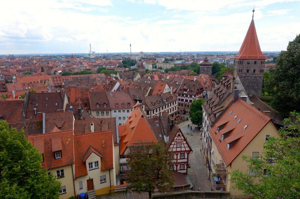 Blick von der Kaiserburg auf die Stadt