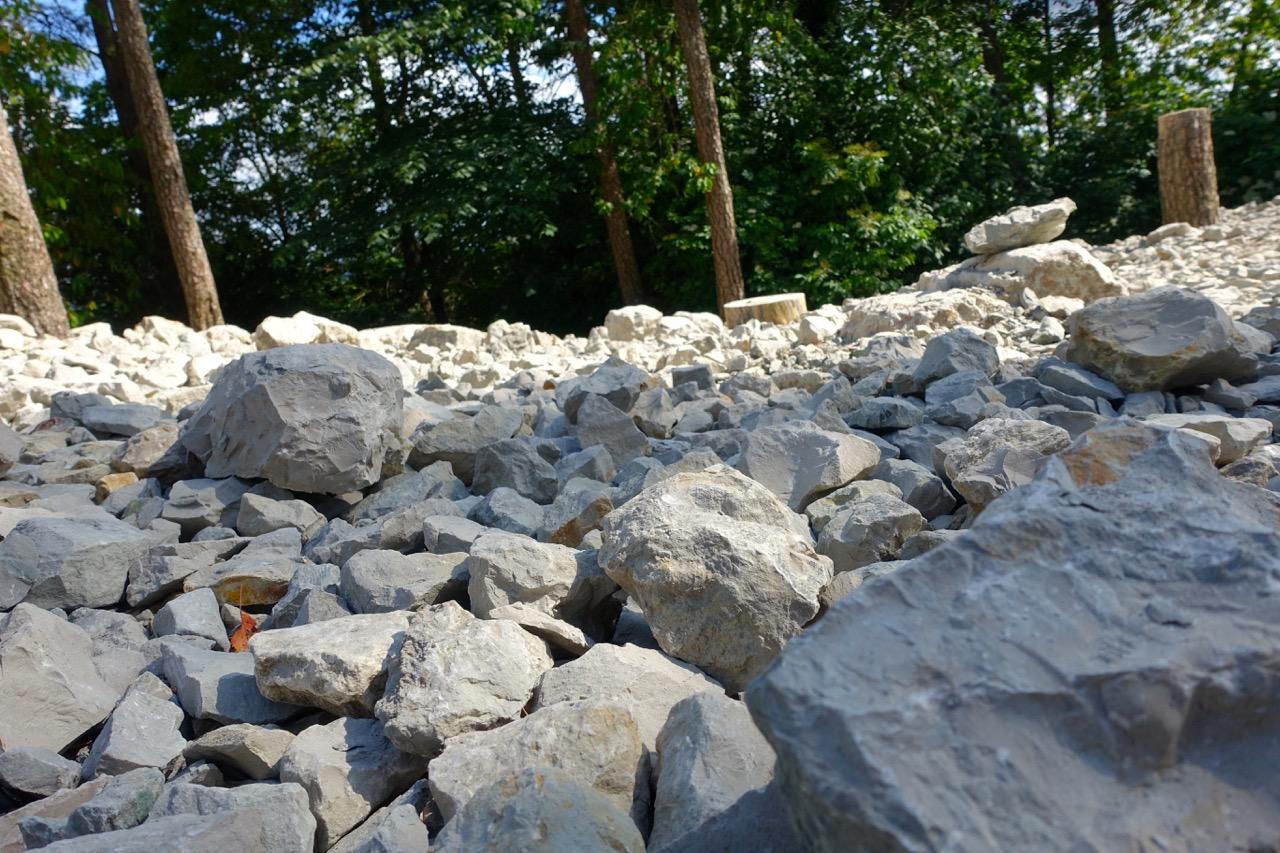 Fossilienklopfplatz auf der Hohenmirsberger Platte