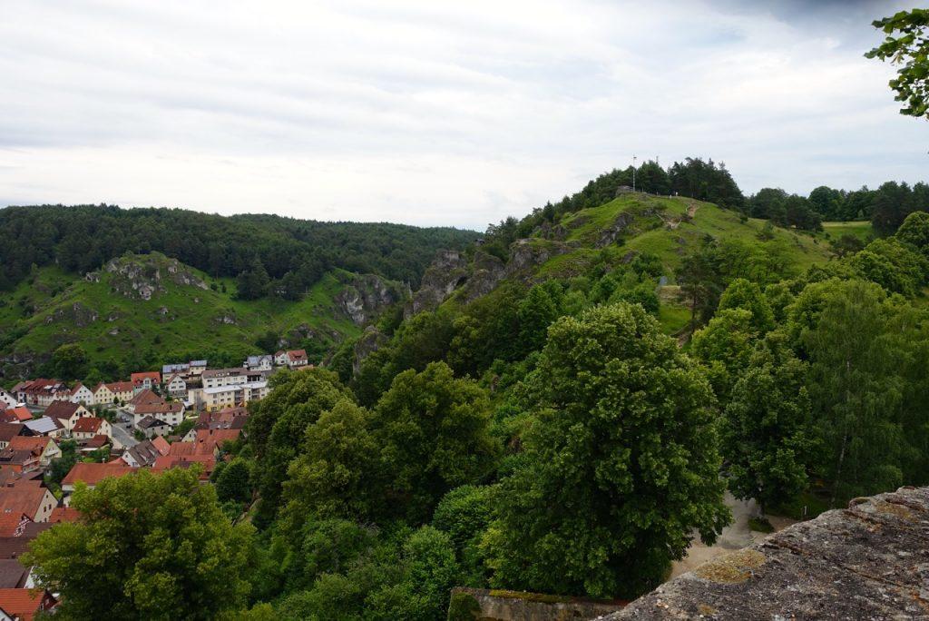 Pottenstein von oben - nicht vom Gleitschirm aber vom Burghof aufgenommen