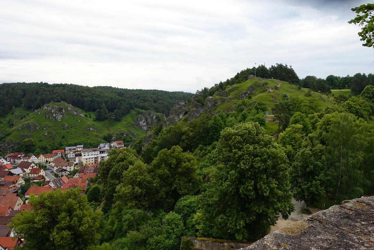 Pottenstein von oben – nicht vom Gleitschirm aber vom Burghof aufgenommen