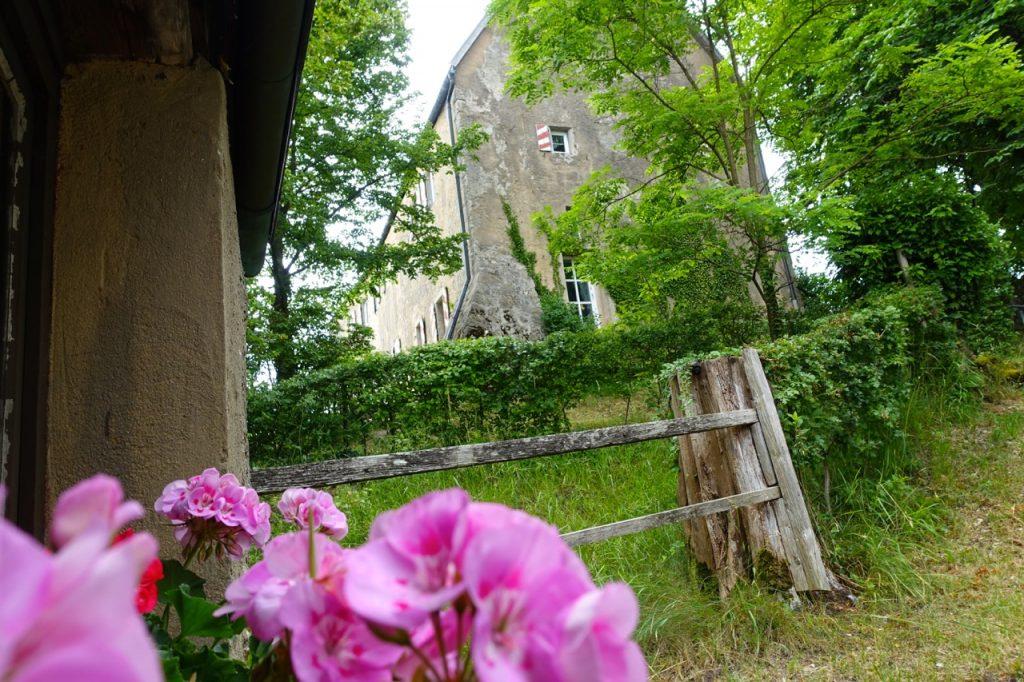 Im Garten von Burg Pottenstein