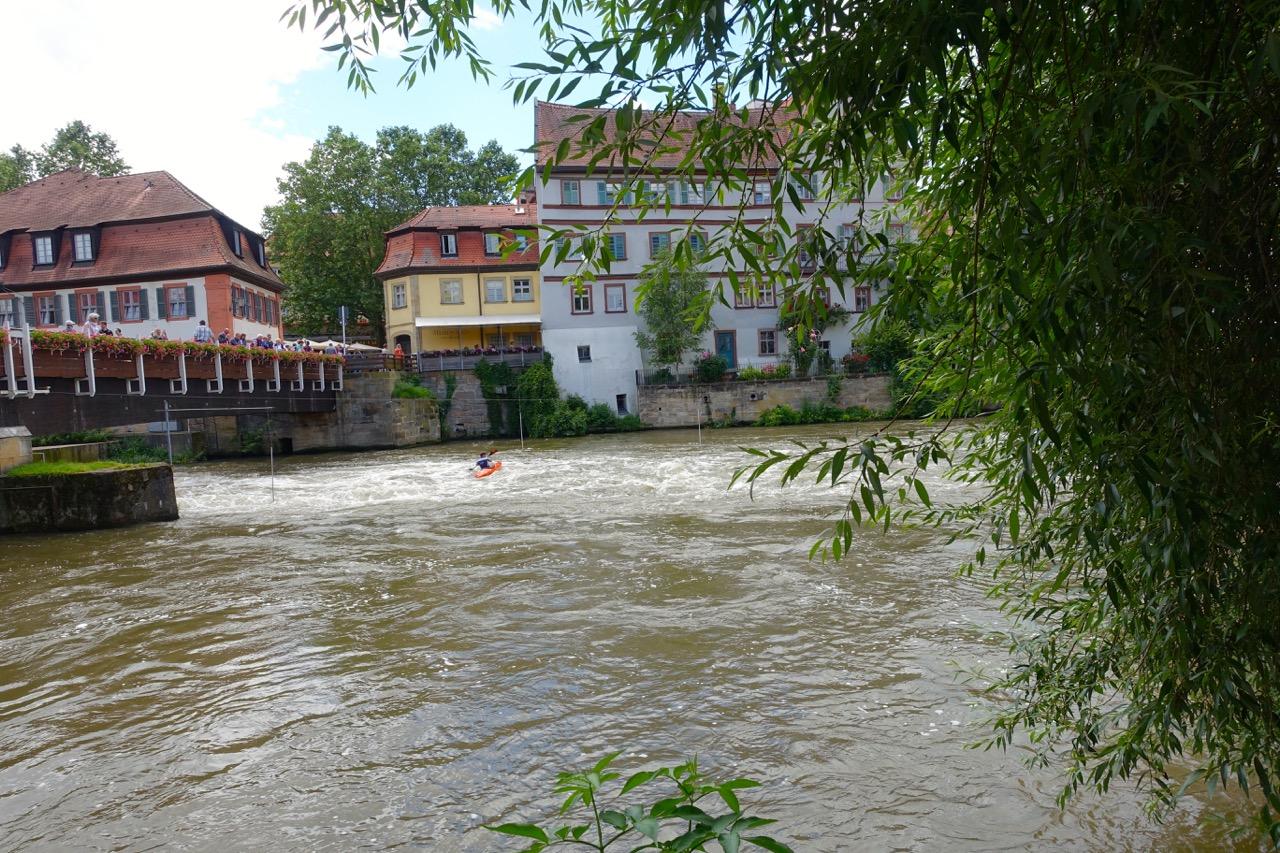Durch Bamberg fließt die Regnitz