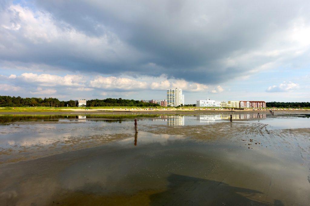 Weg durch das Watt von Cuxhaven Sahlenburg nach Neuwerk