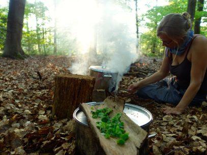 Naturretreat heißt auch - Kochen auf dem Lagerfeuer