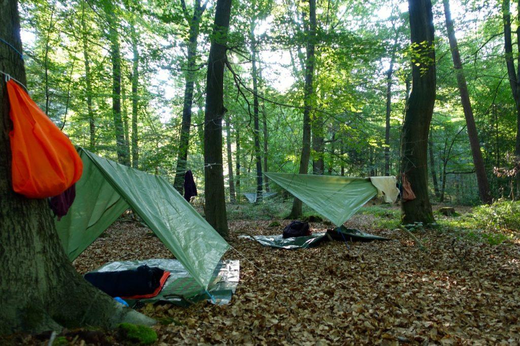Waldbaden - unter freiem Himmel schlafen mitten in der Natur