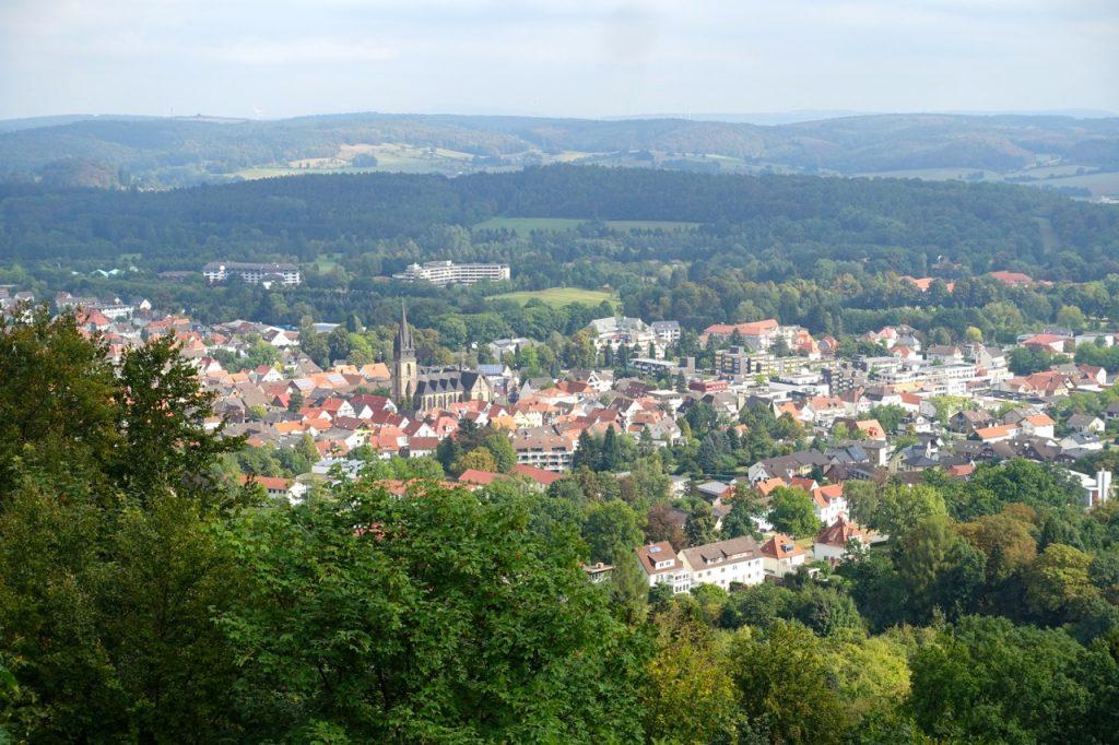 Blick auf Bad Driburg