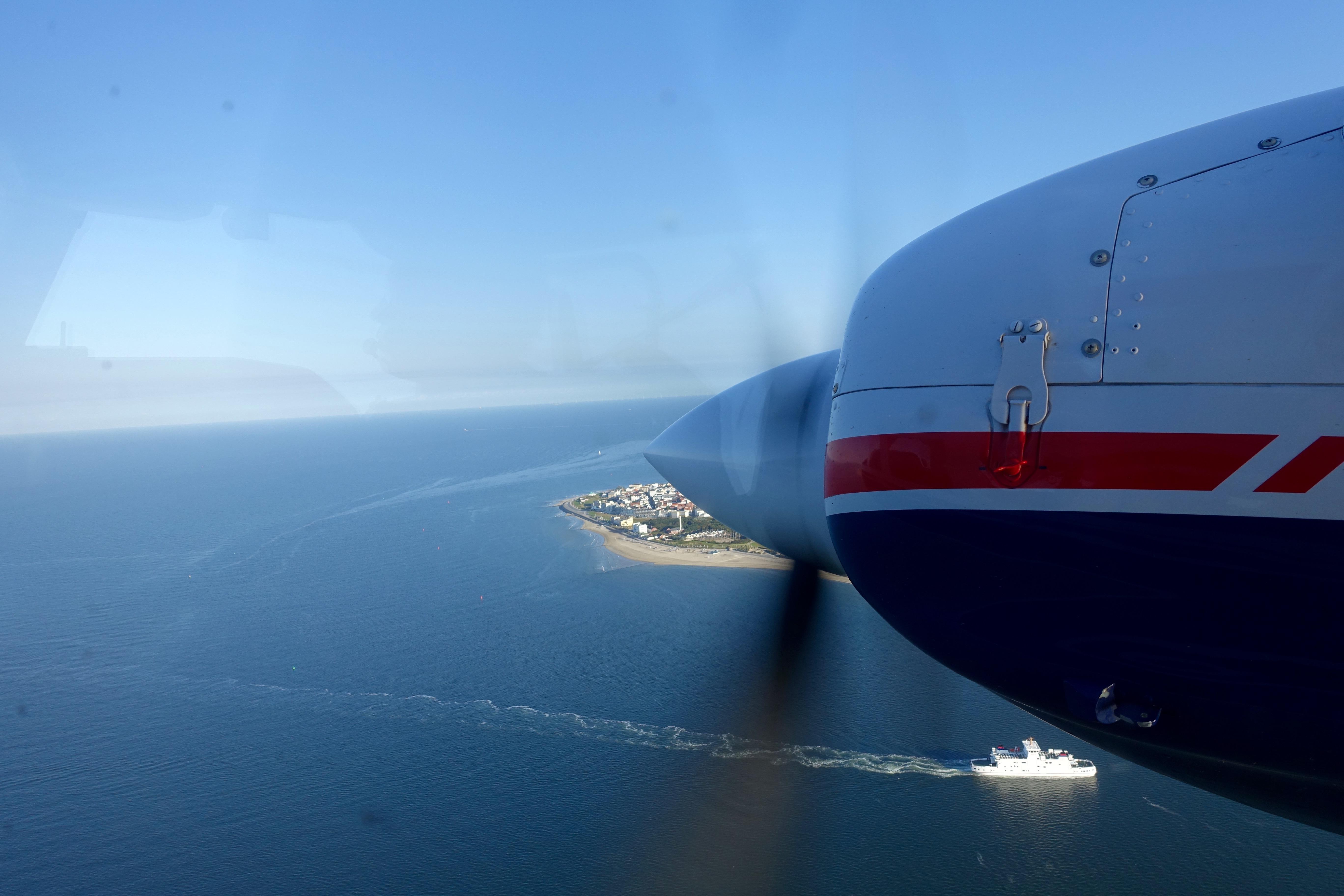 Mit dem Flieger von Norderney nach Juist