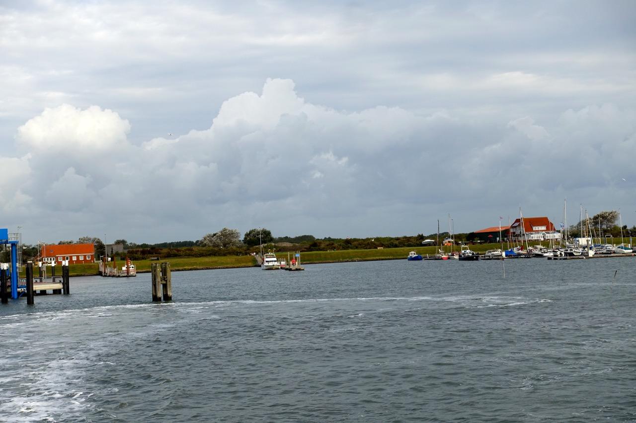 Ein letzter Blick auf die Nordseeinsel Langeoog